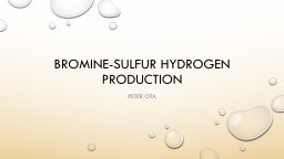 Sulfur Based Thermochemical cycles for Hydrogen Production