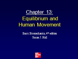 Chapter 13:  Equilibrium and