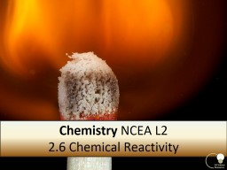 Chemistry  AS 91166 C2.6 Chemical Reactivity