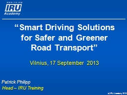 """""""Smart Driving Solutions for Safer and Greener Road Transport"""""""