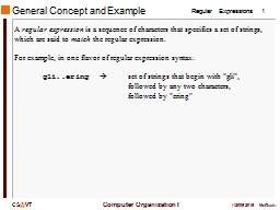 General Concept and Example