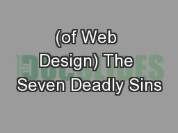 (of Web Design) The Seven Deadly Sins