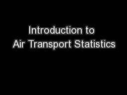 Introduction to Air Transport Statistics