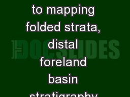 Alkali Anticline an introduction to mapping folded strata, distal foreland basin stratigraphy and h