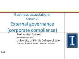 Business associations Section 2: PowerPoint PPT Presentation