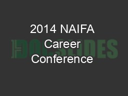 2014 NAIFA Career Conference & Annual Meeting Legislative Foru