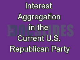 Interest Aggregation in the Current U.S. Republican Party