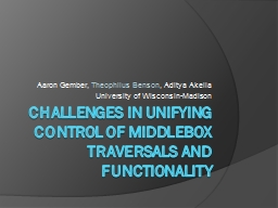 Challenges in Unifying Control of