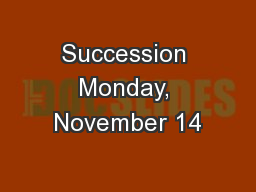 Succession Monday, November 14
