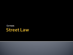 Street Law Contracts DO NOW
