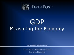 DataPost GDP Measuring the Economy