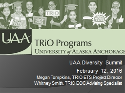 UAA Diversity Summit February 12, 2016