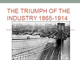 The Triumph of the Industry 1865-1914