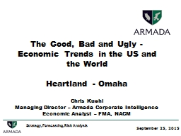 The Good, Bad and Ugly - Economic Trends in the US and the World