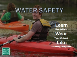 Water Safety Learn How to Swim