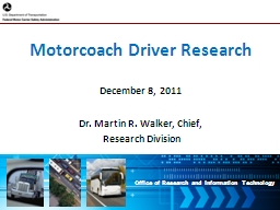 Motorcoach Driver Research