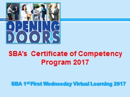 SBA's Certificate of Competency Program 2017