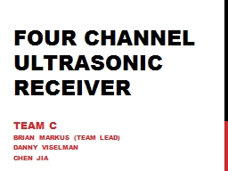 Four Channel Ultrasonic Receiver