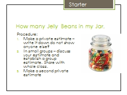 How many Jelly Beans in my Jar.