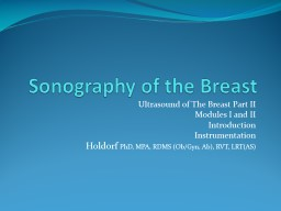 Sonography of the Breast PowerPoint PPT Presentation