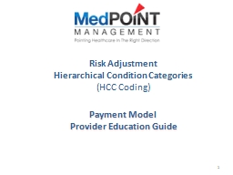 Risk Adjustment Hierarchical Condition Categories