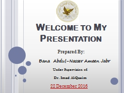 Welcome to  My  Presentation PowerPoint PPT Presentation