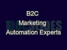 B2C Marketing Automation Experts