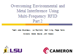 Overcoming Environmental and Metal Interference Using