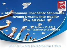 APS Common Core State Standards: