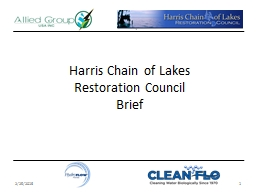 Harris Chain of Lakes  Restoration Council