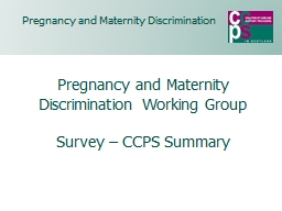 Pregnancy and Maternity PowerPoint PPT Presentation