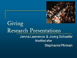 Giving  Research Presentations