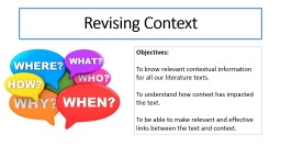 Revising Context Objectives: