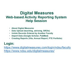 Digital Measures Web-based Activity Reporting System