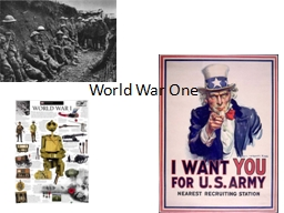 World War One Start of World War One