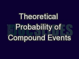 Theoretical Probability of Compound Events
