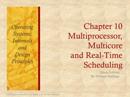 Chapter 10 Multiprocessor, Multicore