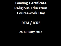 Leaving Certificate  Religious Education