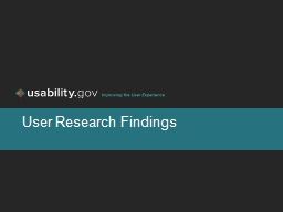 User Research Findings  1