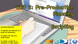 Unit 2: Pre-Production Planning
