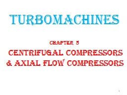 TURBOMACHINES Chapter 5