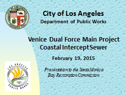 1 City of Los Angeles Department of Public Works