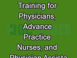 Goals of Care Conversations Training for Physicians, Advance Practice Nurses, and Physician Assista