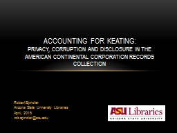 Robert Spindler Arizona State University Libraries PowerPoint PPT Presentation