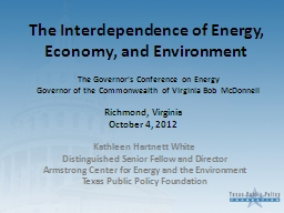 The Interdependence of Energy, Economy, and Environment