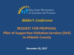Bidder�s Conference REQUEST FOR PROPOSAL