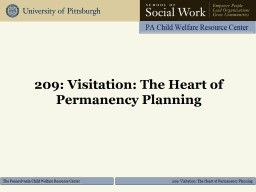 209 : Visitation: The Heart of Permanency Planning