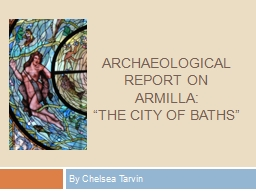 Archaeological        Report on