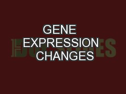 GENE  EXPRESSION  CHANGES