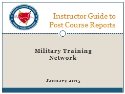Military Training Network PowerPoint PPT Presentation